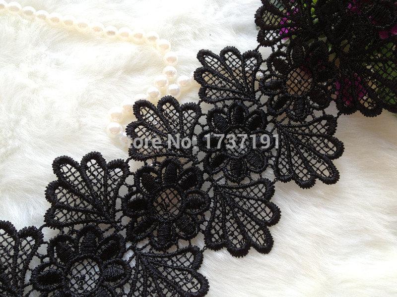 Black Lace Trim Scalloped Black Lace Trim Vintage Lace