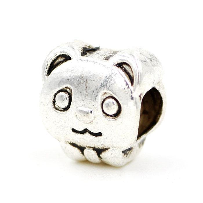 1pcs Retail Top Quality DIY Panda European Silve 925 Beads Big Hole Bead Fits Charm Bracelets