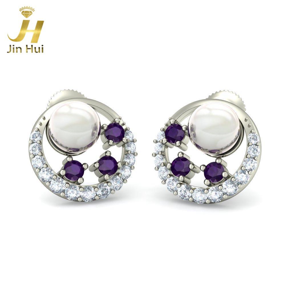 Jinhui 18K 0,244 CT HD JH-BS3136 jinhui dhwani 18k 750 0 08 jh bs4576