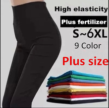 9Color 2015 Brand New Plus Size Solid Cotton Causal Fitness Women Leggings Slim High Waist Elastic Sexy Leggings Women Pants 6XL(China (Mainland))