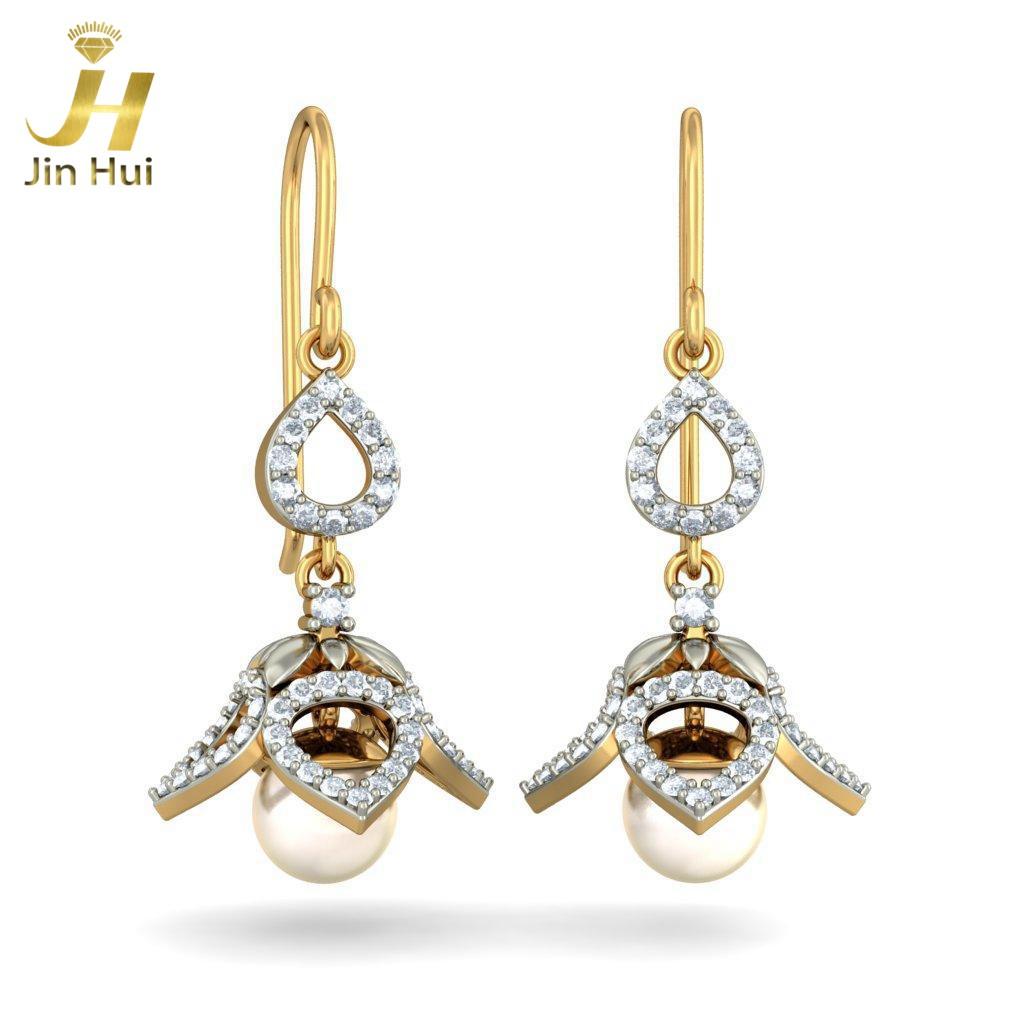 Jin Hui Jinhui Jhumki 18K 750 0,78 CT HD JH-BS2603 jinhui dhwani 18k 750 0 08 jh bs4576