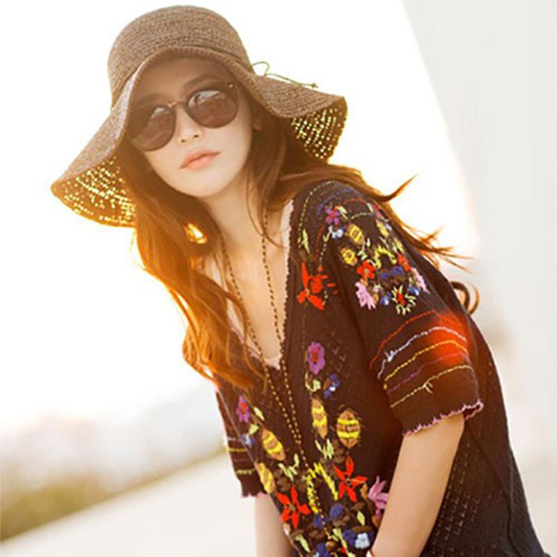 Женская шляпа от солнца Brand New Chapeu Feminino Chapeu Praia Hat женская шляпа от солнца womens sun hat 895
