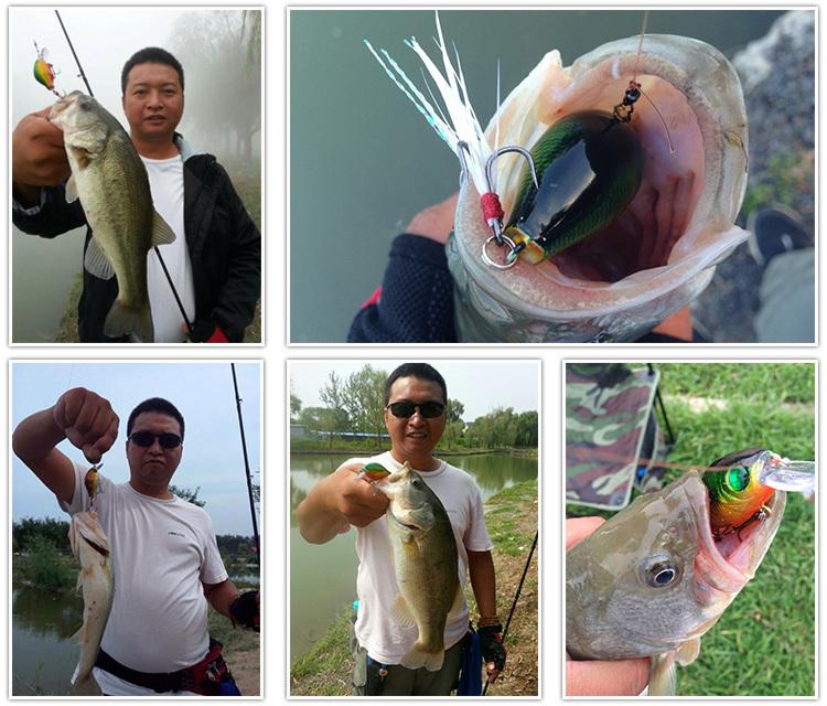 Fish 4pcs/lot 5.5cm/9g Fake Lures Mini Crankbait Fly Fishing Lures Carp Fishing tackle Bait Hard Baits Free Shipping(China (Mainland))