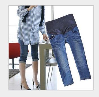 Лето брюки для беременных женщины для беременных джинсы для беременность брюки для ...