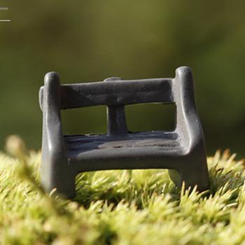 Искусственный стул смолы ремесла орнамент микро ремесло миниатюрный садовый гном мосс террариум бонсай декор для дома