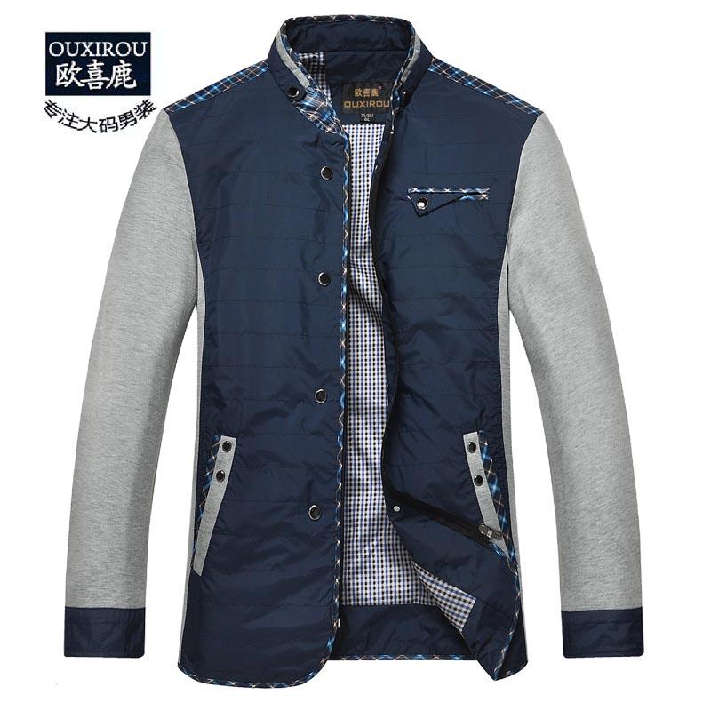 Europe hi Moluccas autumn fertilizer XL men's casual shirt king Nutty collar jacket coat fat people(China (Mainland))