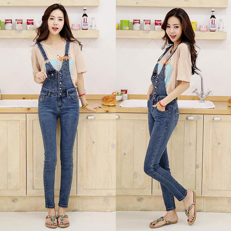 Новый 2015 джинсовые брюки моды весна