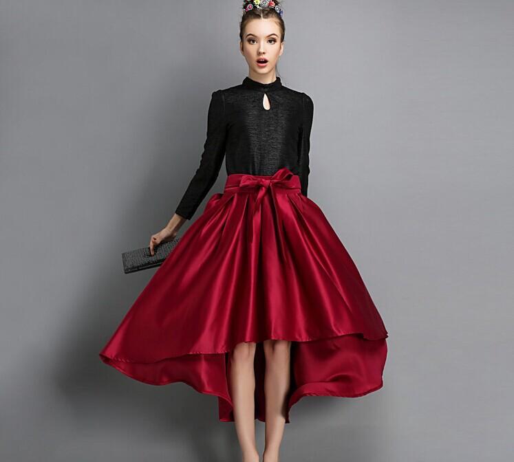 High Waisted Long A Line Skirt - Dress Ala