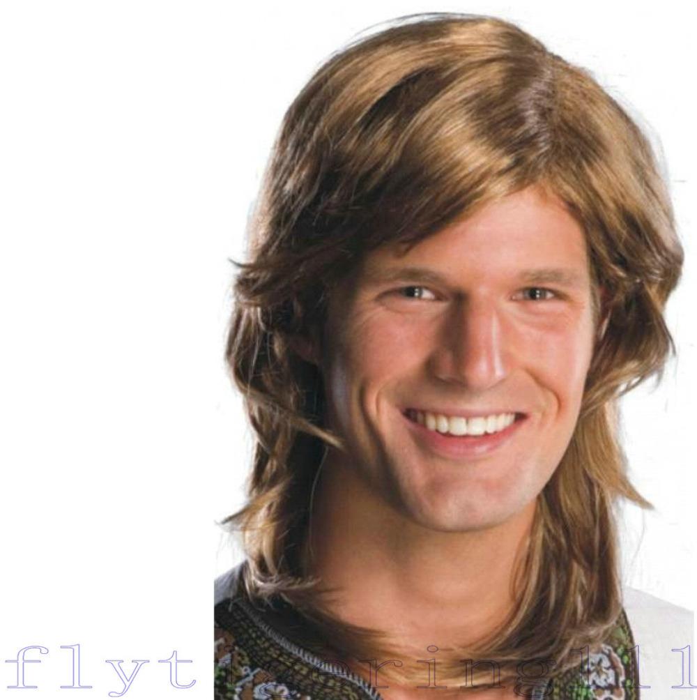 Mens Wigs Online Wig Adult Mens Long Hair Disco
