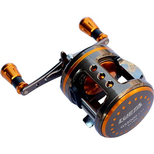 9BB 5.1:1 GS5000 6000 Full Metal Casting Drum Reel Boat Trolling Fishing Reel Aluminum Alloy Big Game Reels Baitcast Lure Wheel(China (Mainland))