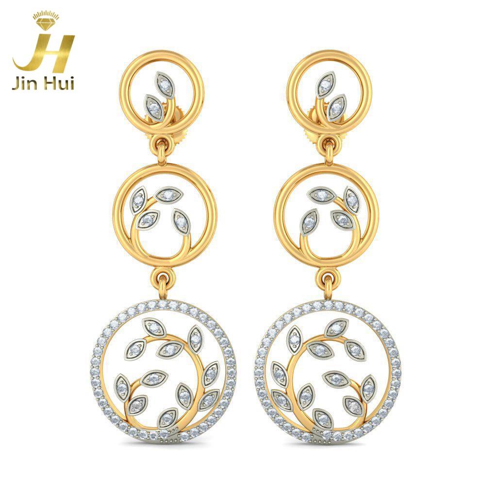 Jin Hui Jinhui 18K 750 0.594ct JH-BS4847 jinhui dhwani 18k 750 0 08 jh bs4576