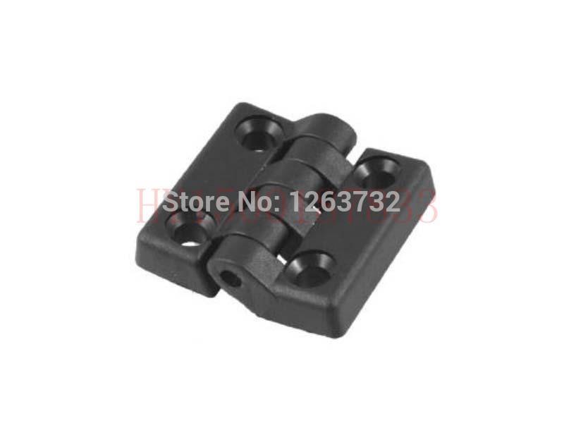 50mm x 48mm Countersunk Hole Plastic Cabinet Ball Bearing Hinge Black(China (Mainland))