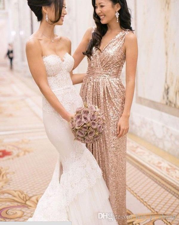 Gold Sequin Bridesmaids Dresses Gold Sequin Bridesmaid Dress