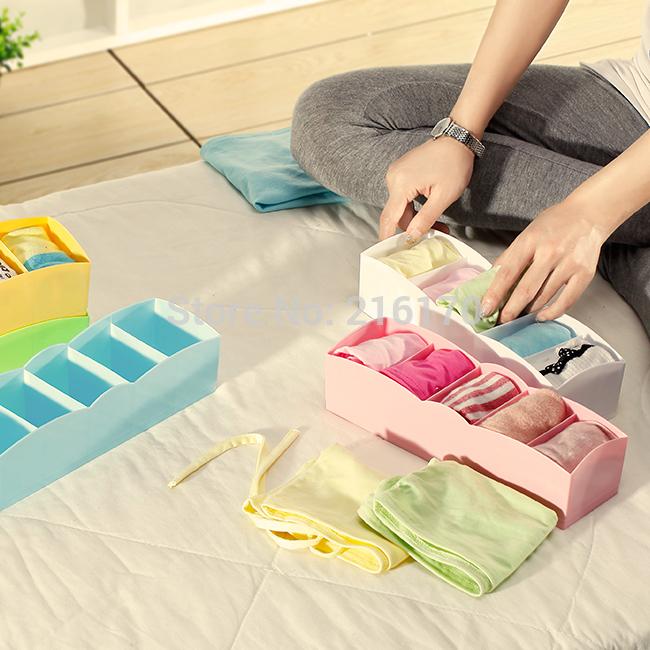 Caixa de acabamento superior tubo de plástico calcinhas meias gaveta caixa de armazenamento de underwear(China (Mainland))