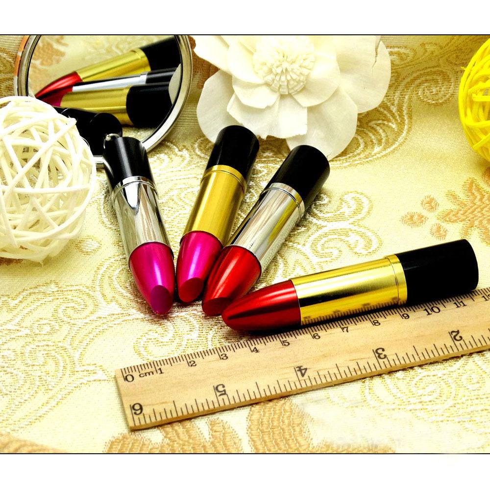 Fashion gjewelry metal lipstick USB Flash Drive gift for girl hot sale pendrive 4GB/8GB/16GB/32GB high speed memory stick U disk(China (Mainland))