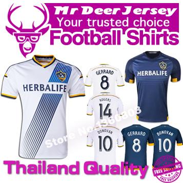2016 LA Galaxy jersey 1516 Los Angeles Galaxy Football Shirt home away soccer jersey DONOVAN JUNINHO KEANE BECKHAM GERRARD(China (Mainland))