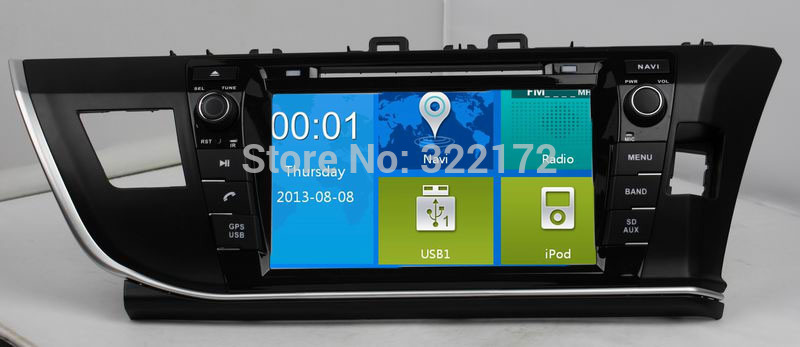 Car Radio Audio DVD Player GPS For TOYOTA COROLLA 2014 Right Hand Drive Free Shipping(China (Mainland))