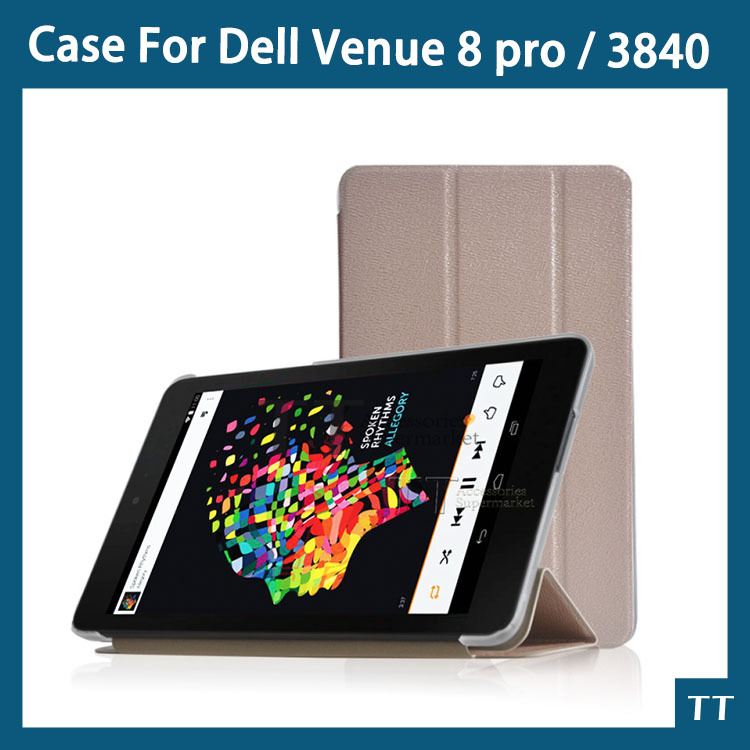 High quality Case For Dell Venue 8 pro 8inch Tablet PC Dell Venue 8 3840 Case + Free Screen protector(China (Mainland))