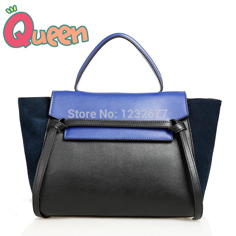 bolsas feminina 100% genuine leather belt tote euro Design office lady sac with tassel designer brand tote bolsos mujer(China (Mainland))