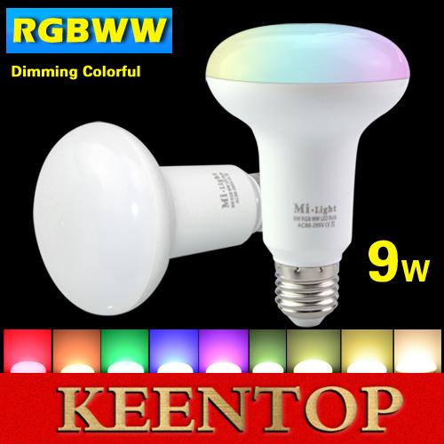 Original Smart Mi Light Wifi Wireless E27 9W PAR30 Dimmable led bulb COB Spotlight 2.4G AC85-265V RGB Warm White Holiday Lights()