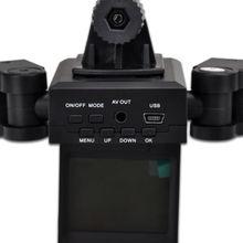 Latest Hd Dv Dual Camera Lens Car Vehicle Dvr Recorder + 8 Ir Night for Vision Light(China (Mainland))