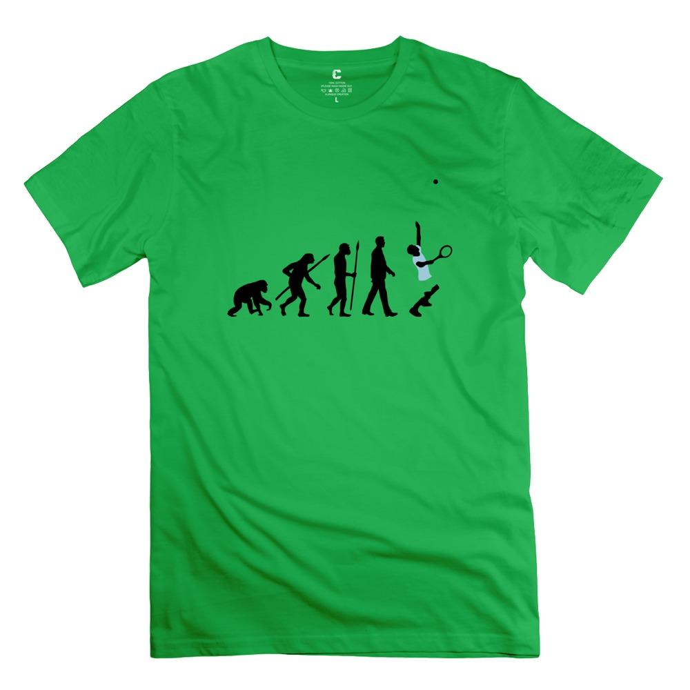 Swag Pre-cotton evolution tennis spieler man t shirt Drop Shipping tees shirt For men's(China (Mainland))