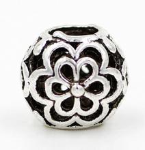 1Ppcs Retail Top Quality DIY European Alloy Silve 925 Beads big hole Flower Bead Fits Charm Bracelets necklaces pendants JPB03