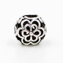 1Ppcs Retail Top Quality DIY European Alloy Silve 925 Beads big hole Flower Bead Fits Pandora