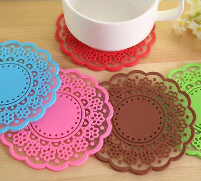 Sweet translucent retro lace coaster(China (Mainland))