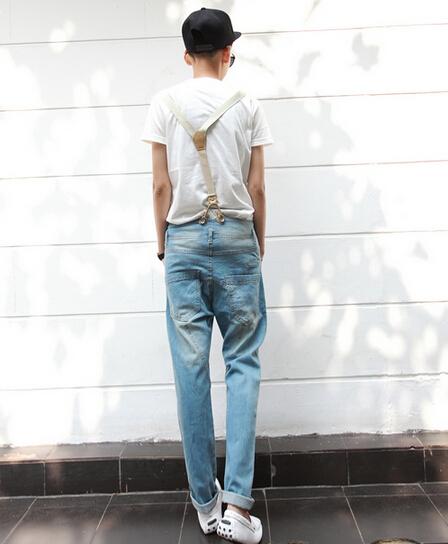 Jeans Bib Overalls Man Foto 115