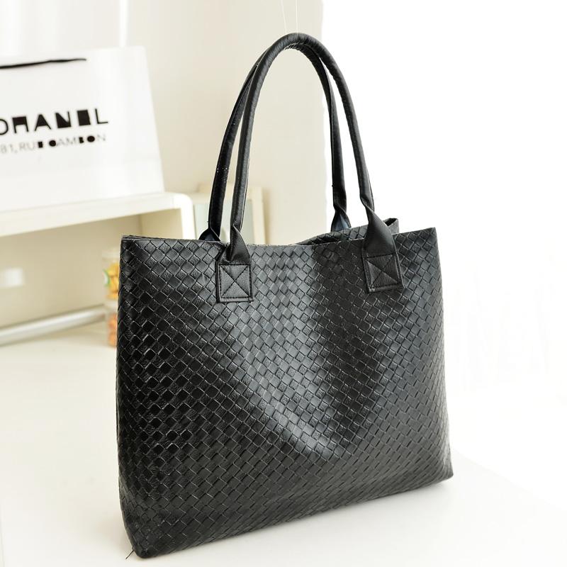 Women's handbag 2014 black big bag fashion star shoulder bag handbag large capacity bags(China (Mainland))