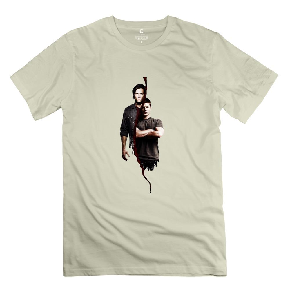 new fashion Supernatural Sam E Dean t shirt 3D O-neck boyfriend birthday t shirts for guy(China (Mainland))