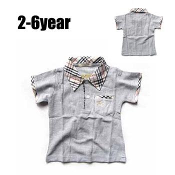 Новый горячий ребенок мальчик футболка серый, весна лето дети одежда с коротким рукавом, дизайн детской одежды майка, футболка для бабьем
