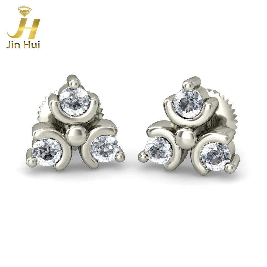 Jinhui Tridan 18K 750 0,192 CT JH-BS1445 jinhui dhwani 18k 750 0 08 jh bs4576