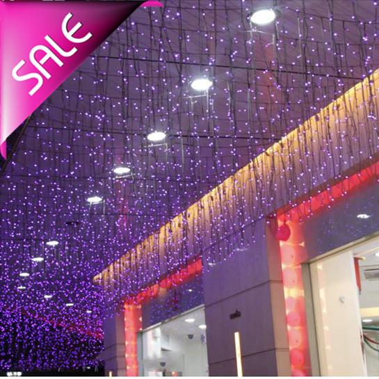 wholesale LED Icicle Lights Christmas Xmas String light for decoration 3.5m 96 led AC 220v EU Plug with end plug Free Shipping(China (Mainland))