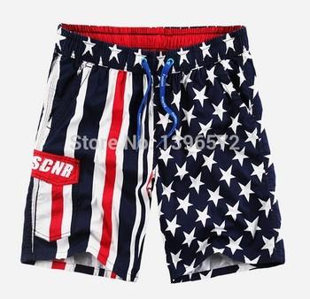 2015 новый флаг шаблон мужской плавки Shorts100 % хлопок мужские купальники короткие пляж совет по поиску шорты для мужчин, бесплатная доставка