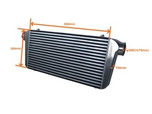 Turbo intercooler Core size 600mm 300mm 100mm In Outlet 3inch A002 Universal Type Front Mount intercooler