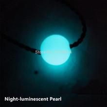 Phosphate rock pearl pendant necklace luminescence luminous stone stone Genuine Crystal Pendant(China (Mainland))
