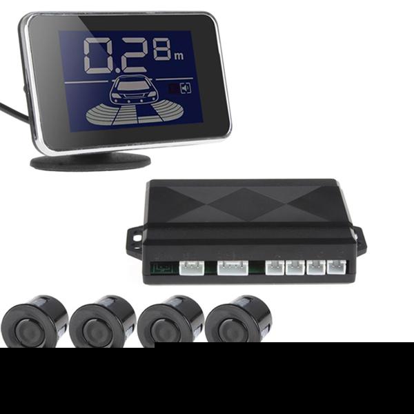 2Pcs/lot LED Display Waterproof 4 x car parking sensor kit reverse backup radar system with buzzer(China (Mainland))