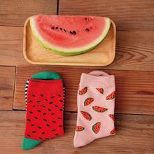Wholesale 2015 new fashion brand caramella watermelon pattern cotton socks for men and women calcetines chaussette femme meias