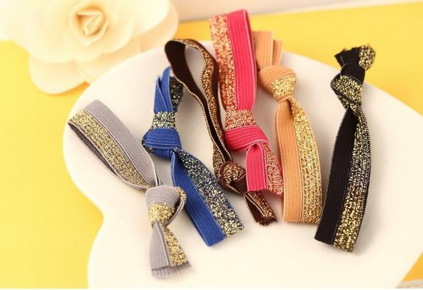 2015 Hot Sell Fashion Hair Accessories Hairband Stretch Glitter Popular Tie Knotted Rubber Band Hair Ring Hair Rope Headband(China (Mainland))