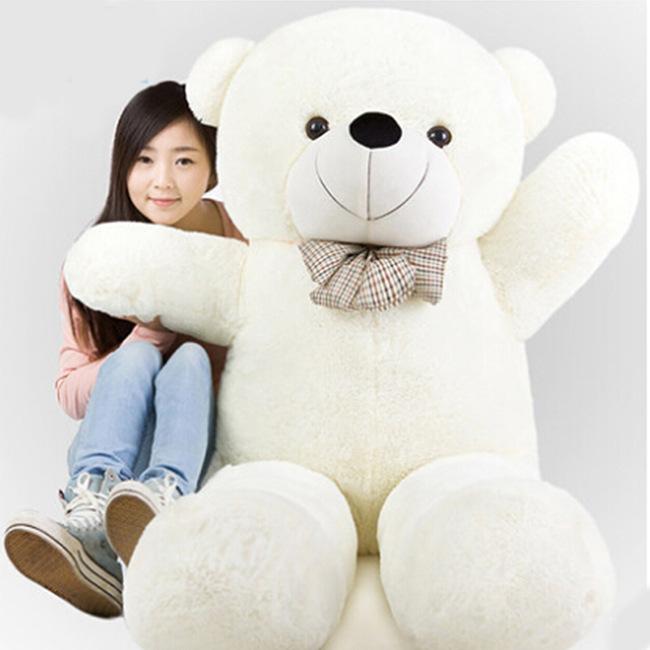 Hot sale 100cm huge big teddy bear plush large stuffed animals pp cotton kids soft toys lovely bowknot birthday christmas gift(China (Mainland))