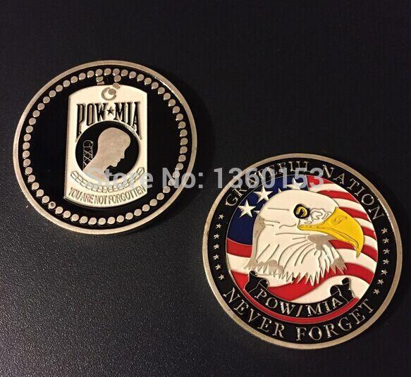 American gold coin POW , DHL 100pcs/lot american Pow Mia coin цена и фото