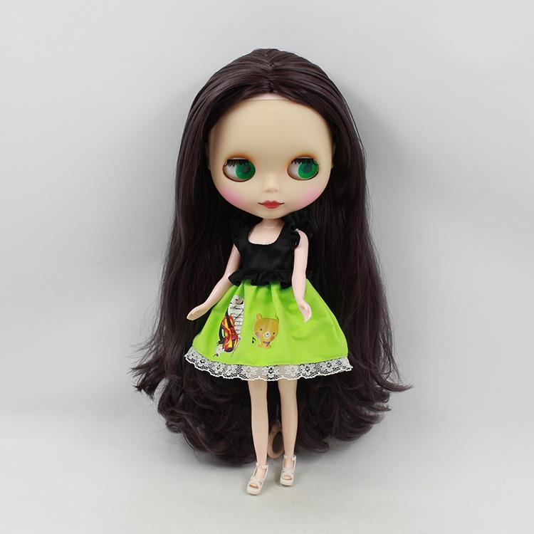 11.5 fashion dolls Nude Blyth fashion doll purple long hair holiday doll fit modified mini dolls for girls(China (Mainland))