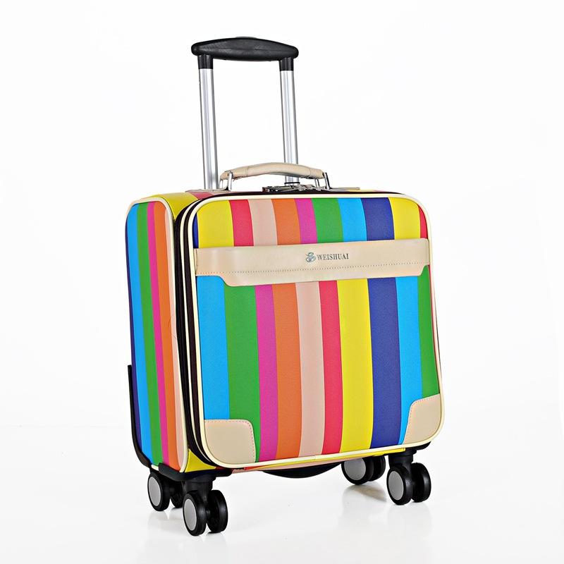 Women Trave Suitcase On Wheels Colourful Designer Luggage Rolling Bags Hardside Sets Valise Latop Small Suitcase Female(China (Mainland))