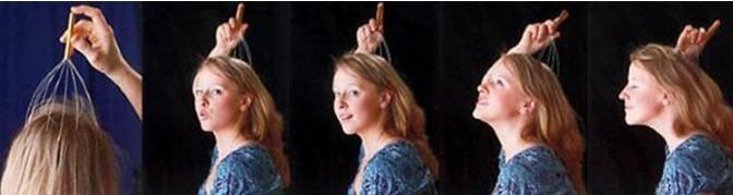 New 2015 Head Neck Scalp Massager Massage Equipment Stress Relax(China (Mainland))