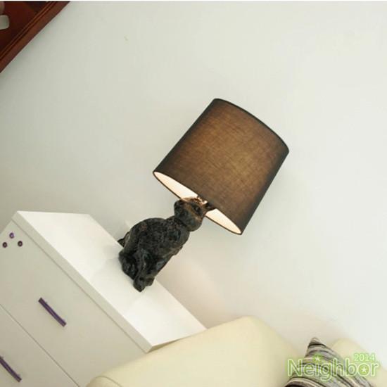 Modern Design Resin Black/White Rabbit Table Lamps Desk Light Reading Lamp lampada de mesa Living Room Bedside Indoor Lighting(China (Mainland))
