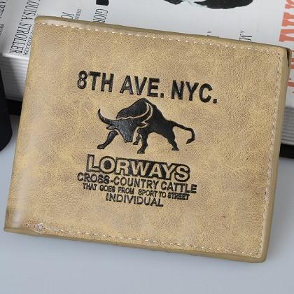 2015 Vintage Designer New Cool Men's Genuine Leather Bifold Wallet Multi Pocket Credit Card Purse Free shipping(China (Mainland))