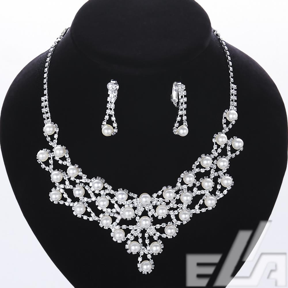 wholesale bijoux joias earrings statement neclaces for women colares jewellery Bride wedding pearl jewelry set(China (Mainland))