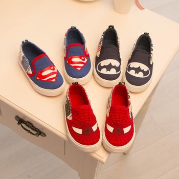 Симпатичные spide человек детская обувь мальчиков обувь ребенок холст обувь мода мальчики кроссовки дышащие дети свободного покроя кроссовки